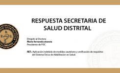 Respuesta de Secretaria de salud