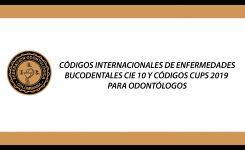 Códigos CIE-10 de Odontología y códigos de consulta