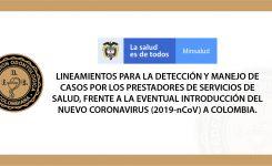Lineamientos CORONAVIRUS (2019-nCoV) Colombia