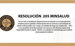 RESOLUCION 205 MINISTERIO DE SALUD