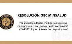 RESOLUCIÓN  380 MINSALUD