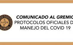 Comunicado al gremio Protocolos