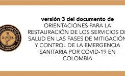 Versión 3 ORIENTACIONES PARA LA RESTAURACIÓN