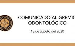 COMUNICADO AL GREMIO ODONTOLÓGICO #7
