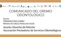 Vacunación Prestadores de Servicios Odontológicos